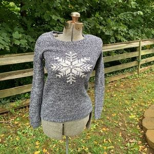 Tommy Hilfiger Snowflake Gray Sweater Women's XS